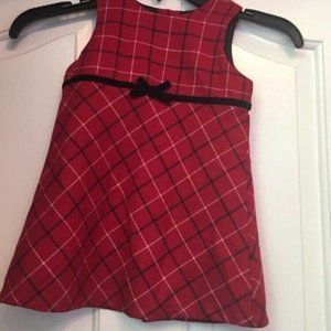New With Tags Girls OLD NAVY A53 Red Plaid Sleevel